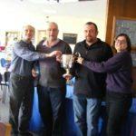 Carrington winners, l-r, Lindsay Scotland, Trevor Dodds,Andrew Sommerville & Kirsty Galloway