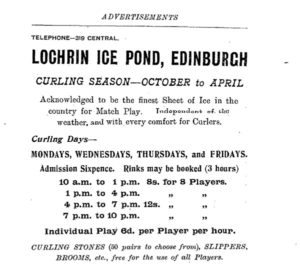 Lochrin Curling Advertisement